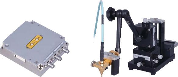 RFデバイス測定用治具と同軸プローブ